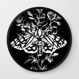 butterfly black Wall Clock