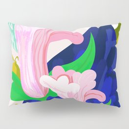 Blue Leaf Pillow Sham