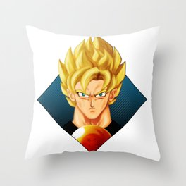 Super Saiyan DB Throw Pillow