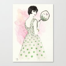 'Charlotte' Watercolor Fashion Illustration Canvas Print