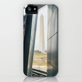 Washington Monument Through Museum Window iPhone Case