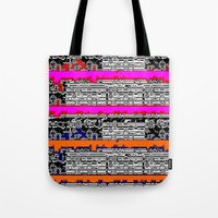 data Tote Bags featuring DATA by lucborell