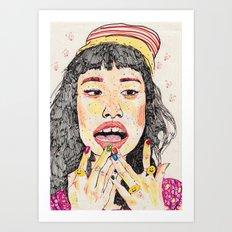 girl7 Art Print