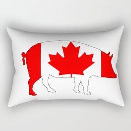 """Pig """"Canada"""" Rectangular Pillow"""