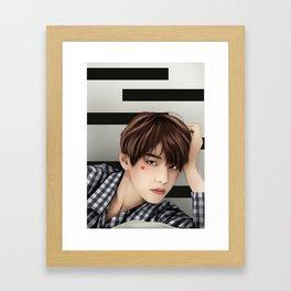 BTS V FANART Framed Art Print