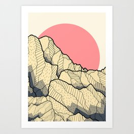 A new autumn hill Art Print