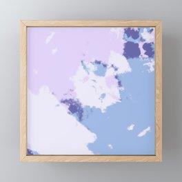 Bluetima - Abstract Colorful Batik Camouflage Tie-Dye Style Pattern Framed Mini Art Print