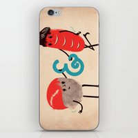 rock and roll iPhone & iPod Skins featuring Rock & Roll by Roland Lefox