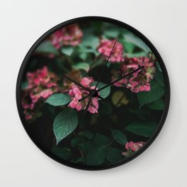 Hydrangeas in the Garden Wall Clock