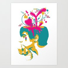 Liquid thoughts:Boy Art Print