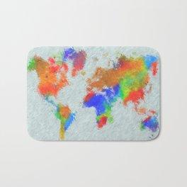 Design 78 World Map Bath Mat