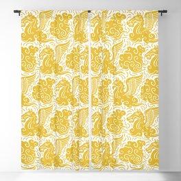 Pegasus Pattern Mustard Yellow Blackout Curtain