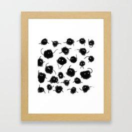 Coals Framed Art Print