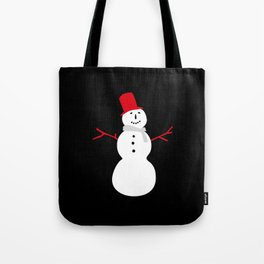 Christmas Snowman-Black Tote Bag