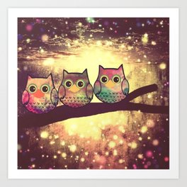 owl 45 Art Print