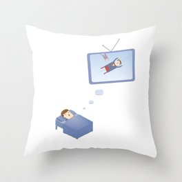 Who manages your dreams? Throw Pillow