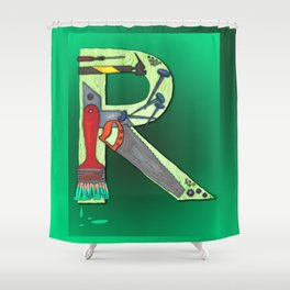 R Handyman Shower Curtain