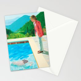 stand and swim people Stationery Cards