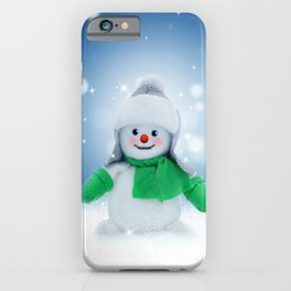 Snowman Wishes iPhone Case