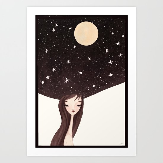night hat Art Print