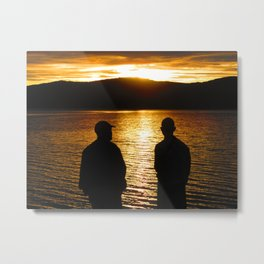 Father and son time Metal Print