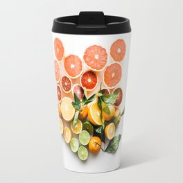 Lemon orange leaf Travel Mug