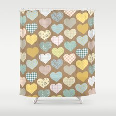 hearts pattern Shower Curtain