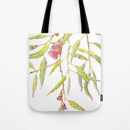 Flowering eucalyptus tree branch Tote Bag