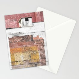 Washed Out City Wall - Abstract Urban Color Stationery Cards