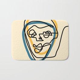 Blue Face Bath Mat