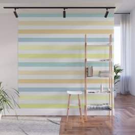 Horizontally striped , pastel 3 Wall Mural