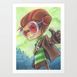 Razputin Aquato - Raz Thumbs Up! - Psychonauts Art Print