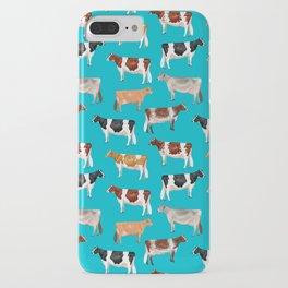 Dairy Breeds // Cerulean iPhone Case