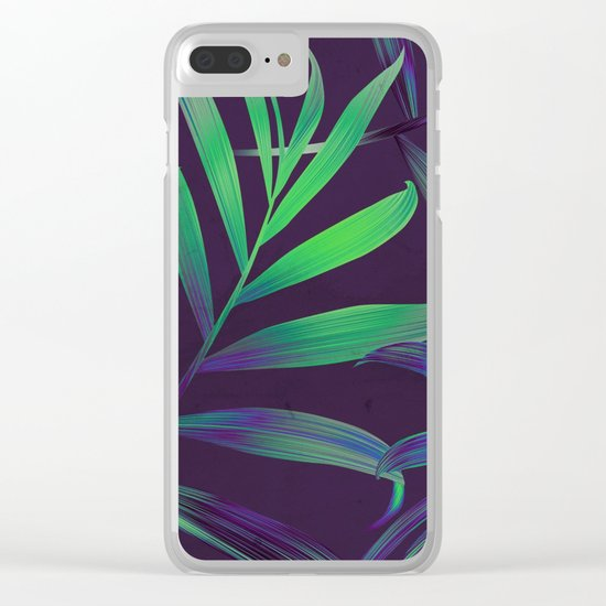 Tropical Leaves Vibes Clear iPhone Case