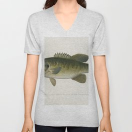 Small-Mouthed Black Bass( Micropterus Dolomieu) illustrated by Sherman F Denton (1856-1937) from Gam Unisex V-Neck