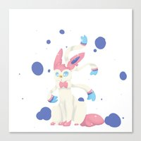 sylveon Canvas Prints featuring sylveon! by fluidgold
