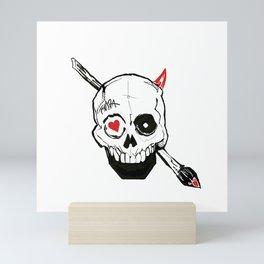 FarMetal skull love craft Mini Art Print