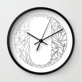 ''Geometry Collection'' - Minimal Letter O Print Wall Clock