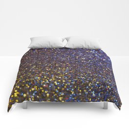 Blue and Gold Sparkles Comforters