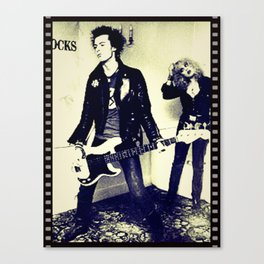 The tragedy of rock star Canvas Print