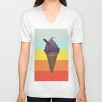 icecream V-neck T-shirts featuring Icecream by Zayth