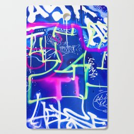 Blue Mood with Pink Language Cutting Board