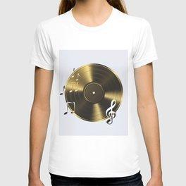 Gold LP Vinyl Record T-shirt