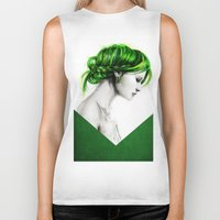 clover Biker Tanks featuring Clover by Isaiah K. Stephens