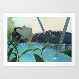 The dreamer (Levi, SnK) Art Print