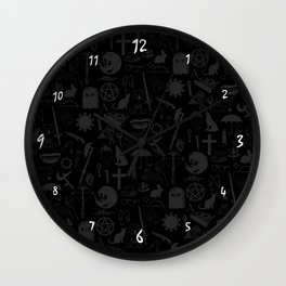 Buffy Symbology, White Wall Clock