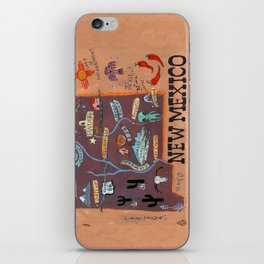 New Mexico map iPhone Skin