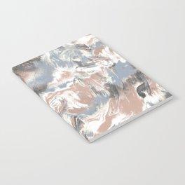 Marble Mist Terra Cotta Blue Notebook