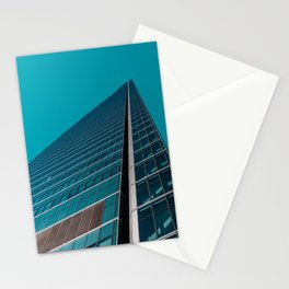 Skyscraper in Teal Blue Stationery Cards