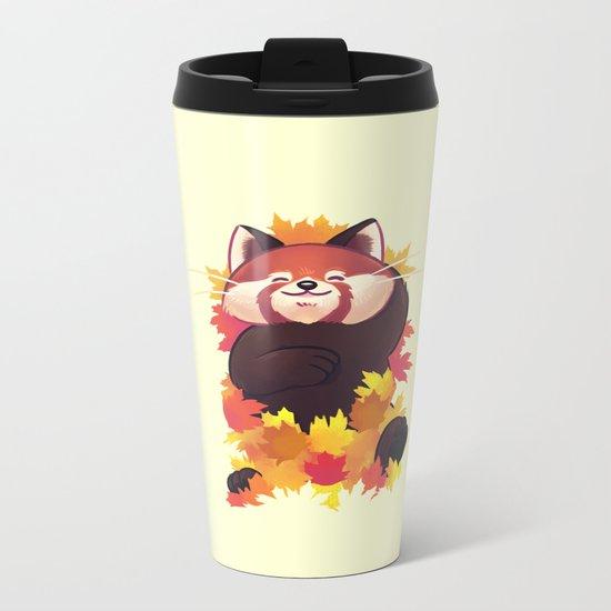Relaxing Red Panda Metal Travel Mug